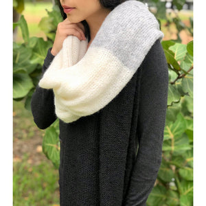 Color Block Alpaca Wrap Scarf