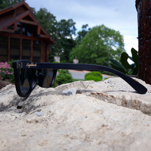 Sunset Mirror Lenses Polarized with Full Frame Black Bamboo and Case