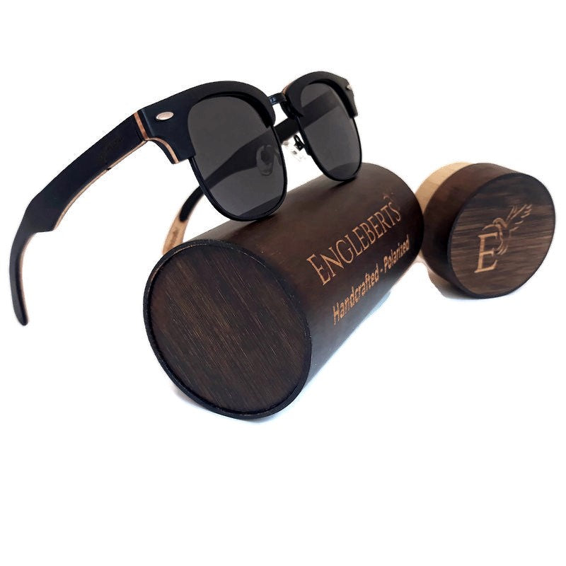 Skateboard Multi-Layer-Club Sunglasses, Polarized Lenses, With Case