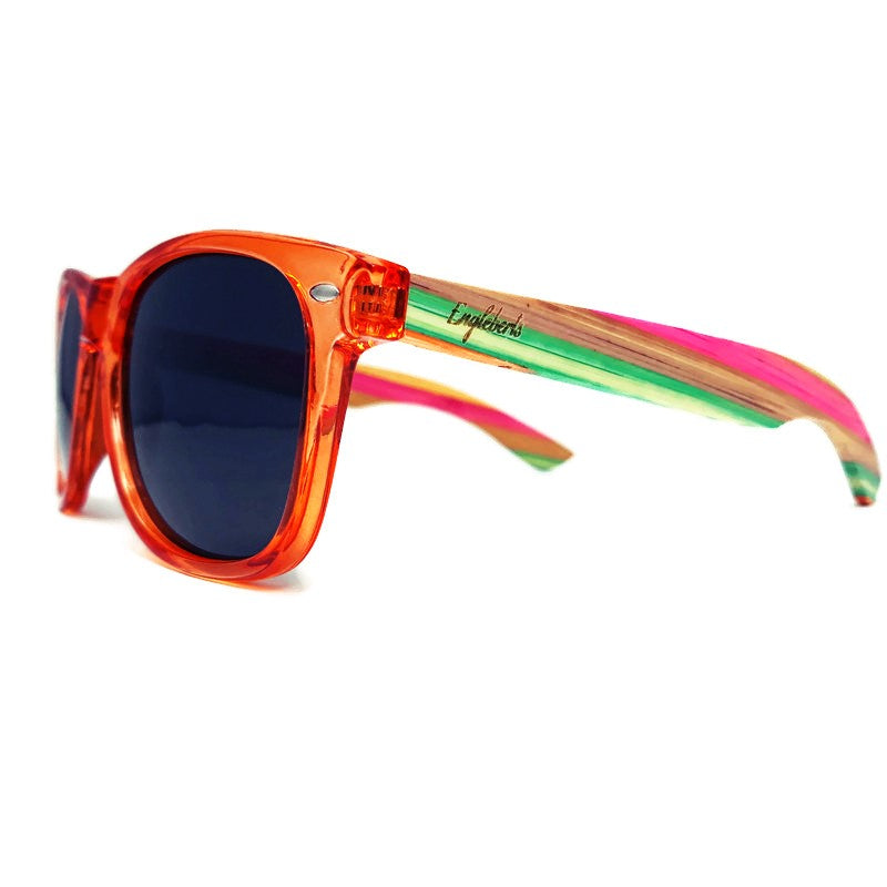 Juicy Fruit Muti-Colored Bamboo Sunglasses Polarized with Case