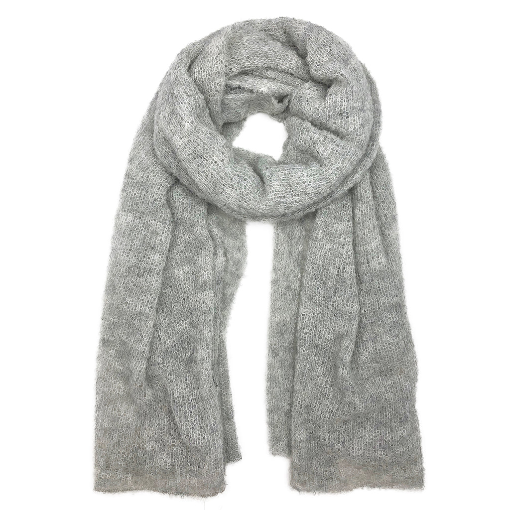 Gray Ultra Plush Alpaca Scarf