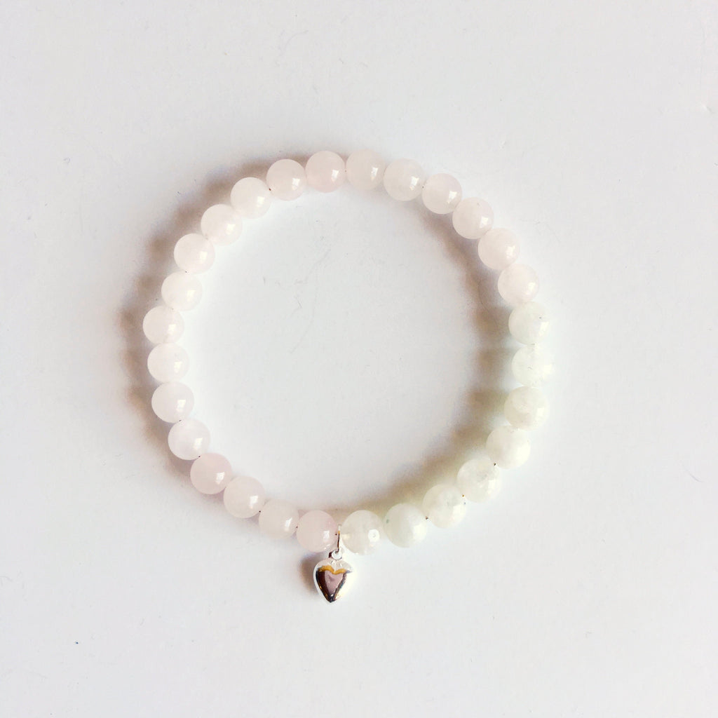 Moonstone & Rose Quartz Bracelet