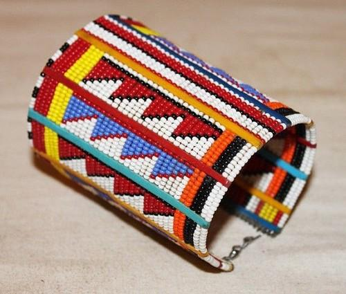 African Maasai Beaded Traditional Ethnic Beaded Bracelet