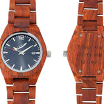 Men's Personalized Engrave Rose Wood Watches