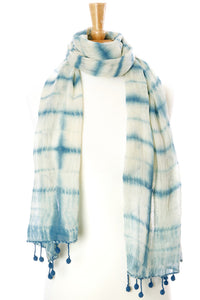 Azure Cotton Cloud Scarf