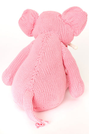 Kenana Knitters Icing Pink Gentle Tembo Cotton Elephant