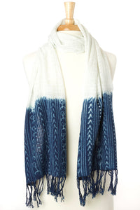 Mudcloth Organic Cotton Open Weave Scarf