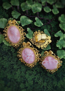 Pink Framed Rings