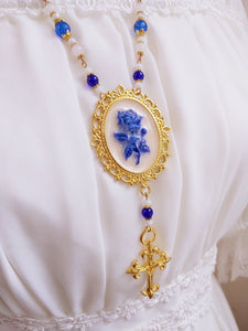 Decorated Blue Rosary