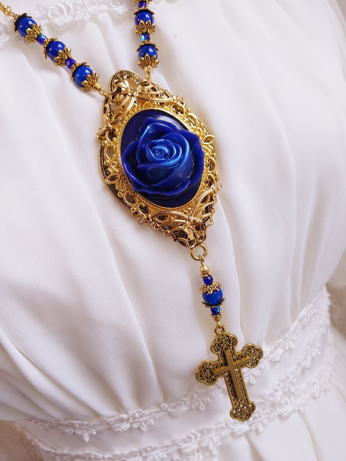 Framed Blue Rosary