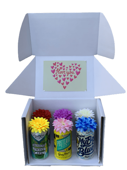 I Love You! 6-Pack of Craft Beers Bouquet Box - brewquets.com