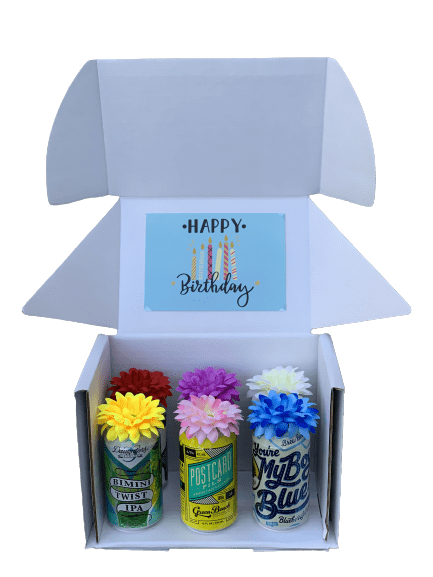 Happy Birthday! 6-Pack of Craft Beers Bouquet Box - brewquets.com