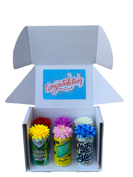 Congratulations! 6-Pack of Craft Beers Bouquet Box