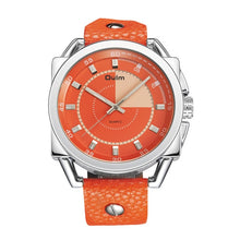 Load image into Gallery viewer, Oulm Orange Men's Watch
