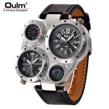 Load image into Gallery viewer, Oulm  Decorative Thermometer/Compass Wristwatch