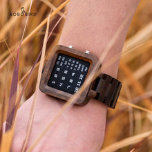 Load image into Gallery viewer, BOBO BIRD Luxury Night Vision Bamboo Watch