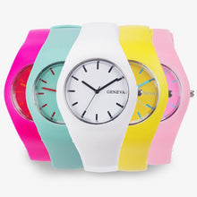 Load image into Gallery viewer, Ultra-thin Geneva Multi-Color Jelly Watch