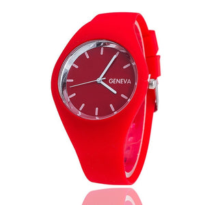 Ultra-thin Geneva Multi-Color Jelly Watch