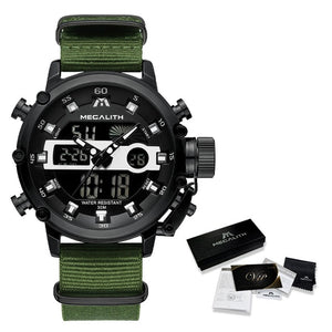 MEGALITH Sport Luminous Dual Display Watch