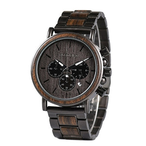 BOBO BIRD Luxury Metal/Wooden Chronograph