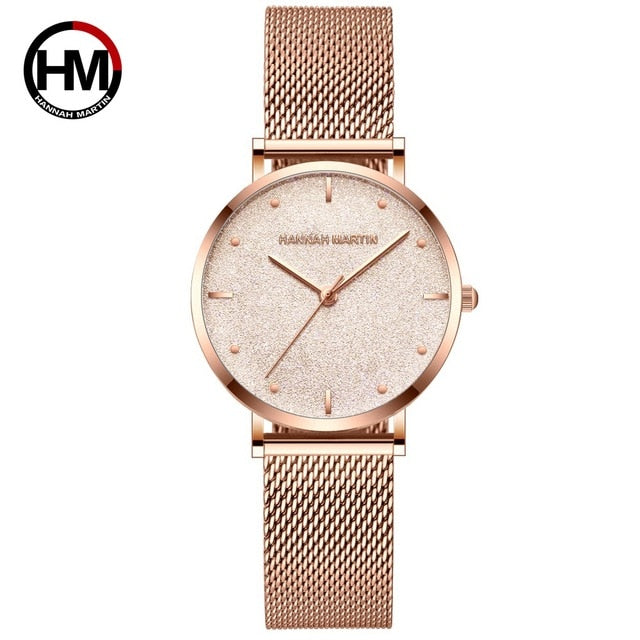 Hannah Martin Stainless Steel Rose Gold / Glitter