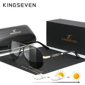 KINGSEVEN Aluminum Polarized Photochromatic Sunglasses