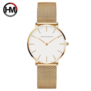 Hannah Martin Mesh Gold Watch