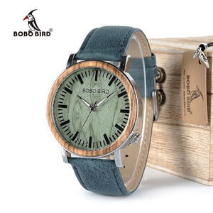 BOBO BIRD Wooden Design Timepiece