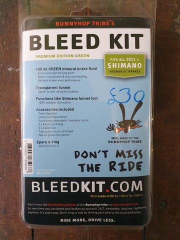 Bunnyhop Tribe's Bleed Kit Premium Edition Green - Happy Days Cycles