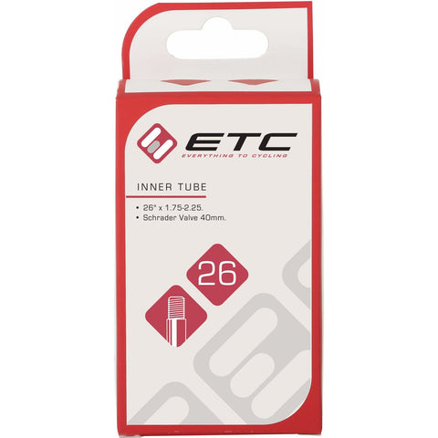 "ETC 26"" Inner Tube, Schrader Valve - Happy Days Cycles"