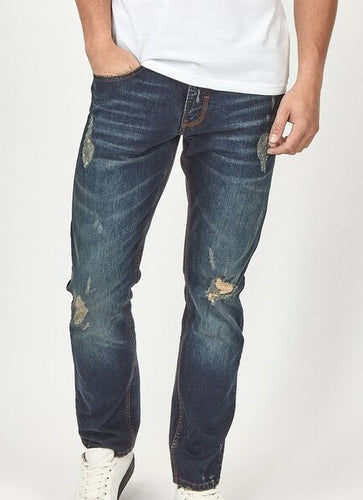 Otis Distressed Blue Jeans - Dapper Rogue
