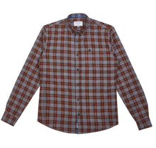 Load image into Gallery viewer, Casey Blue/Grey Check Shirt - Dapper Rogue