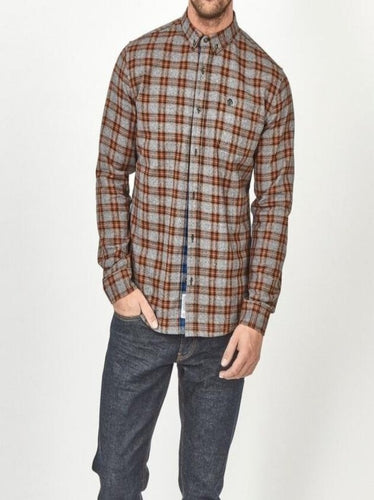 Casey Blue/Grey Check Shirt - Dapper Rogue