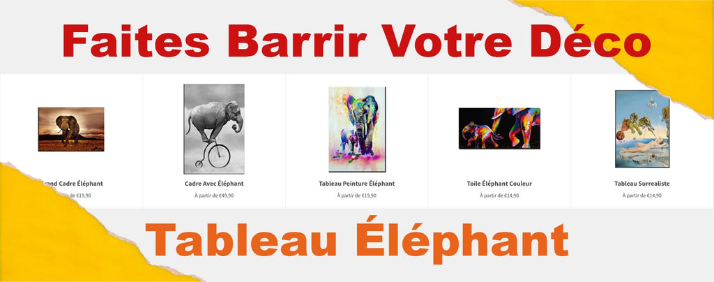 collection de tableaux éléphants