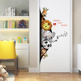 Sticker Animaux Jungle sur un porte