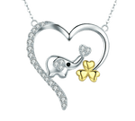 collier elephant coeur
