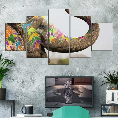 tableau elephant pop art