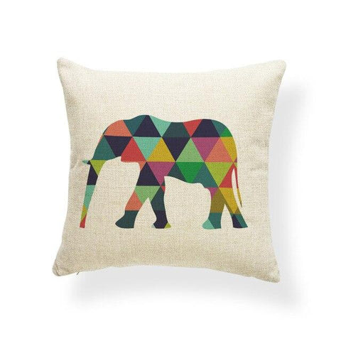 coussin dessin elephant