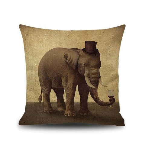 coussin motif animaux
