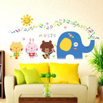 Stickers Mural Notes De Musique