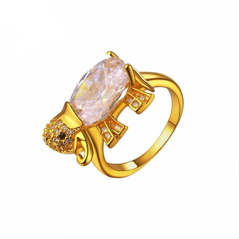Bague Zircon Or