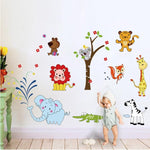 Stickers Bébé Animaux Jungle