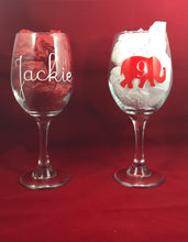 Load image into Gallery viewer, Wine Glass-NPHC Sorority Edition