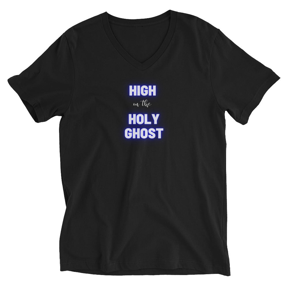 High on the Holy Ghost V-Neck T-Shirt
