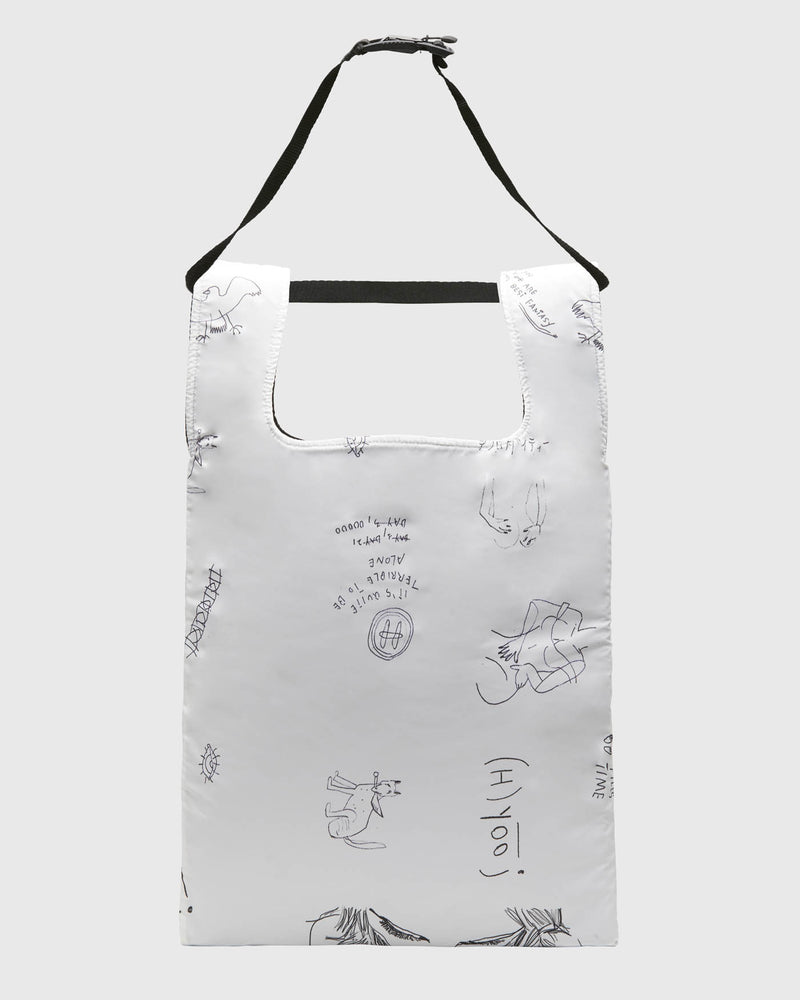 HG-BGS05-S3<BR>ALL OVER SKETCH PRINT SHOPPER