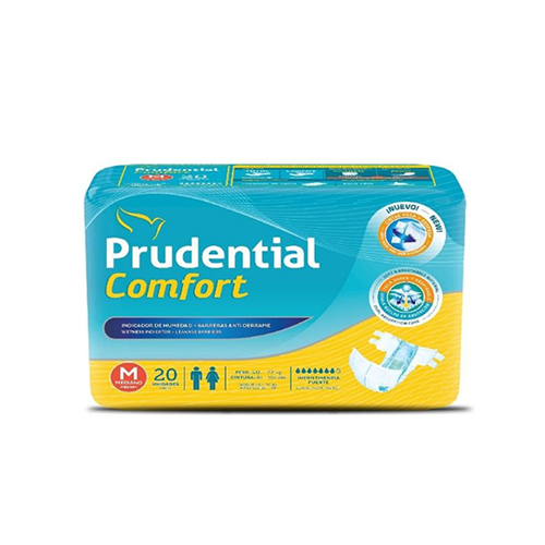 Pañal Prudential Confort Talla M - 20 unid.