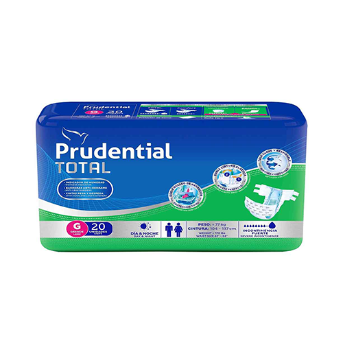Pañal Prudential Total Talla G - 22 unid.