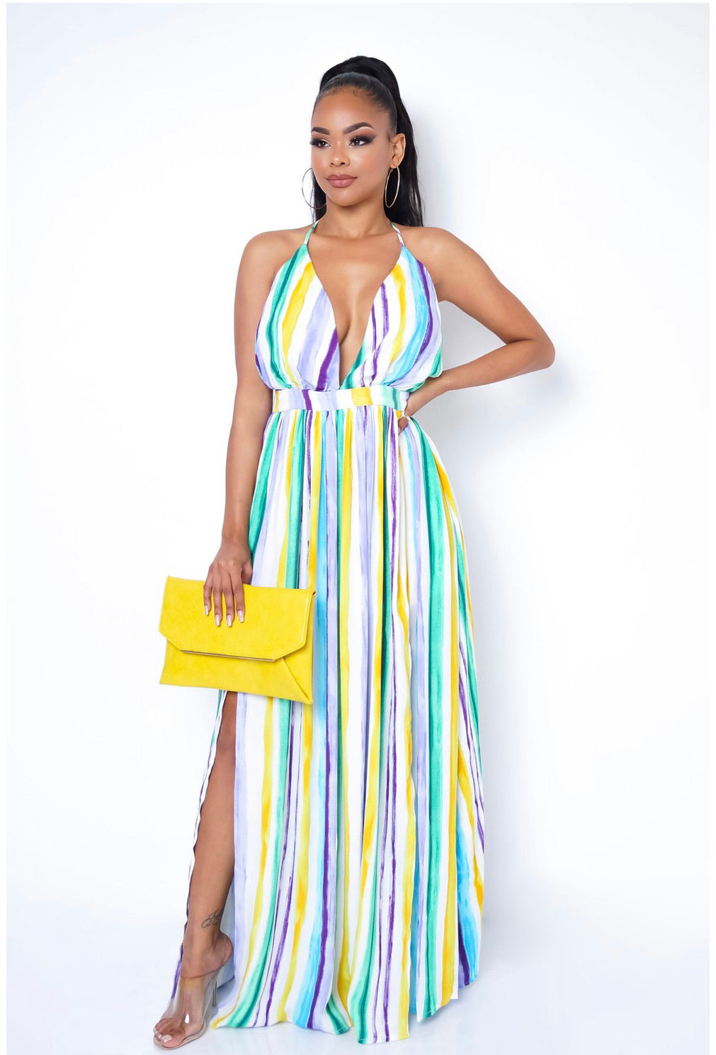 SUMMER TIME FINE MAXI DRESS