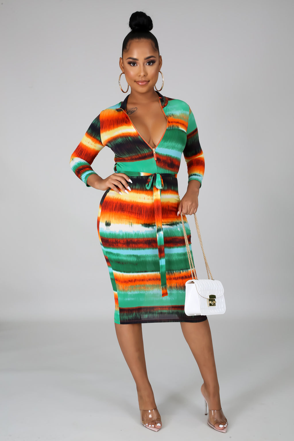 IN THE TROPICS MIDI DRESS
