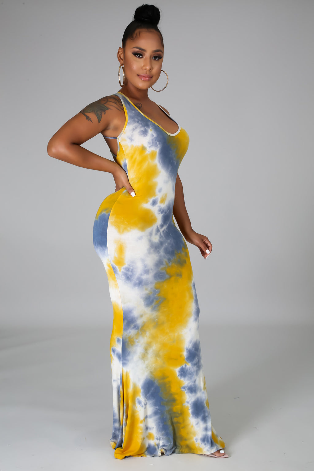TO TIE AND DYE FOR MAXI DRESS